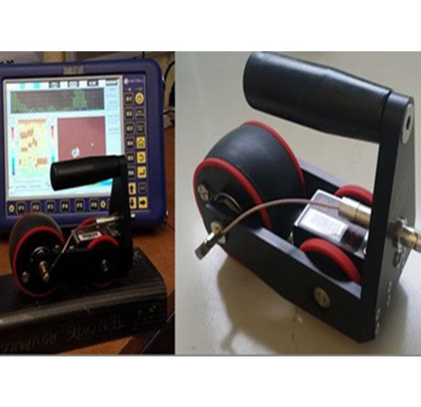 新型轮式干耦合复合材料检测系统