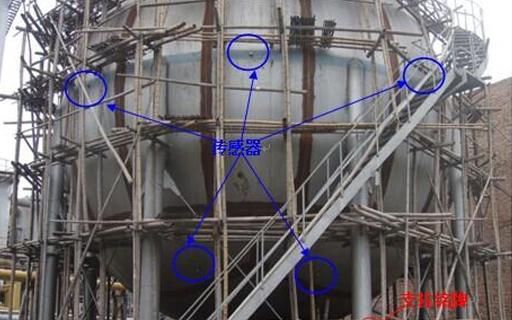 压力容器检测-600立方米氧气球罐声发射检测